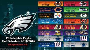 Philadelphia Eagles Game Schedule 2017-2018