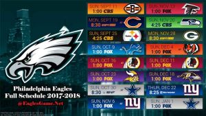 Philadelphia Eagles Game Schedule 2017-2018
